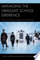 Managing the Graduate School Experience