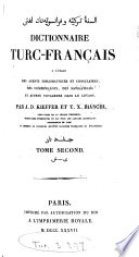 Dictionnaire turc-français, par J.-D. Kieffer et T.X. Bianchi