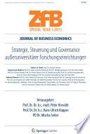 Strategie, Steuerung und Governance außeruniversitärer Forschungseinrichtungen