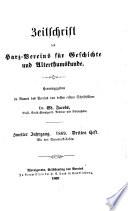 Zeitschrift des Harz-Vereins für Geschichte und Altertumskunde