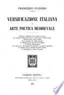 Versificazione italiana e arte poetica medioevale