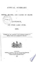 Weekly Return Of Births And Deaths Infectious Diseases Weather In London And Other Great Towns