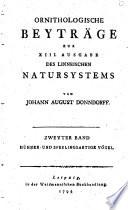 Zoologische beyträge zur XIII. ausgabe des Linneischen natursystems