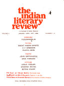 The Indian Literary Review