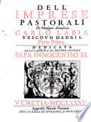 Dell imprese pastorali di Monsignor Arcivescovo Carlo Labia Vescovo d Adria parte    0