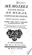 M  moires d Anne Marie de Moras  comtesse de Corbon    crits par elle m  me     par Charles de Fieux