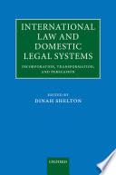 International Law and Domestic Legal Systems