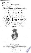 Herzoglich-Mecklenburg-Schwerinscher Staats-Kalender