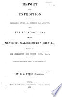Report of an expedition to ascertain the position of the 141st degree of East Longitude, etc