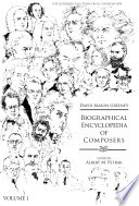 Greene's Biographical Encyclopedia of Composers