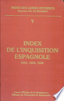 Index de l Inquisition espagnole  1551  1554  1559