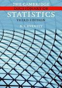 The Cambridge Dictionary of Statistics