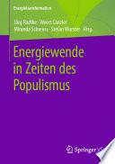 Energiewende In Zeiten Des Populismus
