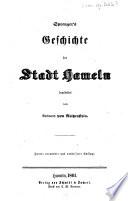 Sprenger's Geschichte der Stadt Hameln bearbeitet vom Amtmam von Reitzenftein