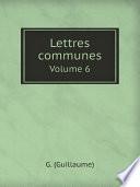 Lettres communes