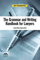 The Grammar and Writing Handbook for Lawyers