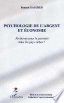 Psychologie de l'argent et économie