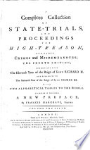 A Complete Collection Of State Trials And Proceedings For High Treason And Other Crimes and Misdemeanours