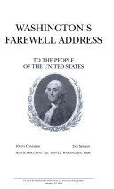 Washington s Farewell Address to the People of the United States