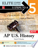 5 Steps to a 5 AP U S  History 2018 Elite Student edition