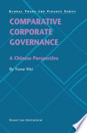 Comparative Corporate Governance   A Chinese Perspective