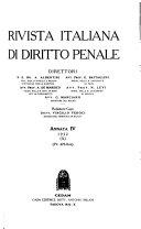 Rivista italiana di diritto penale