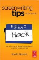 Screenwriting Tips, You Hack Book