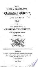 The New and Complete Valentine Writer for the Year 1805
