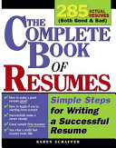 The Complete Book of Resumes