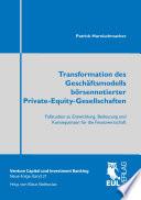 Transformation des Geschäftsmodells börsennotierter Private-Equity-Gesellschaften