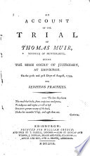 An Account of the Trial of Thomas Muir