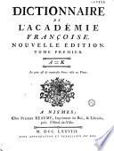 Dictionnaire de l acad  mie fran  oise  Nouvelle   dition