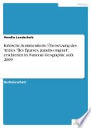 """Kritische, kommentierte Übersetzung des Textes """"Îles Éparses, paradis originel"""", erschienen in National Geographic août 2009"""