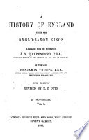 A History of England Under the Anglo Saxon Kings  Tr  from the German of Dr  J  M  Lappenberg      From earliest times to 800
