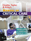 Civetta Taylor And Kirby S Manual Of Critical Care