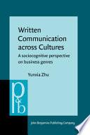 Written Communication Across Cultures