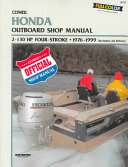 Clymer Honda 4 Stroke Outboard Shop Manual 2 130 Hp 1976 1999
