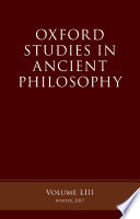 Oxford Studies Ancient Philosophy