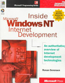 INSIDE WINDOWS NT INTERNET DEVELOPMENT. Avec un CD-Rom