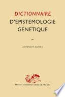 Dictionnaire D     pist  mologie G  n  tique