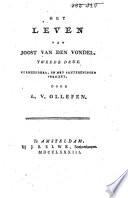 Het leven van Joost van den Vondel