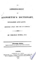 An Abridgment of Ainsworth s Dictionary