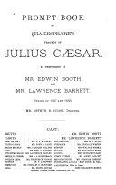 Prompt Book of Shakespeare s Tragedy of Julius Caesar
