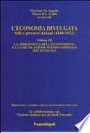 L economia divulgata  La Biblioteca dell economista e la circolazione internazionale dei manuali