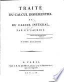 Traité du calcul différentiel et du calcul intégral