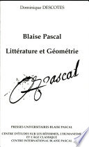 illustration du livre Blaise Pascal, littérature et géométrie