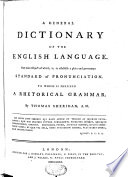 A General Dictionary of the English Language