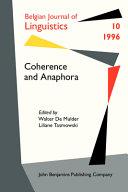 Coherence   anaphora
