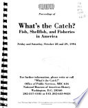 Proceedings of What s the Catch  Book PDF