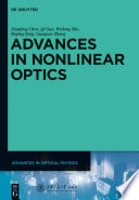 Advances In Nonlinear Optics : art of nonlinear optics from weak light nonlinear...